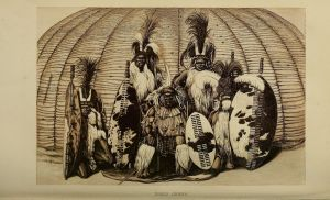 Popular science periodicals in the 19th Century often included beautifully detailed images.  Zulu Chiefs, Intellectual Observer, 1867, pp. 184-185.