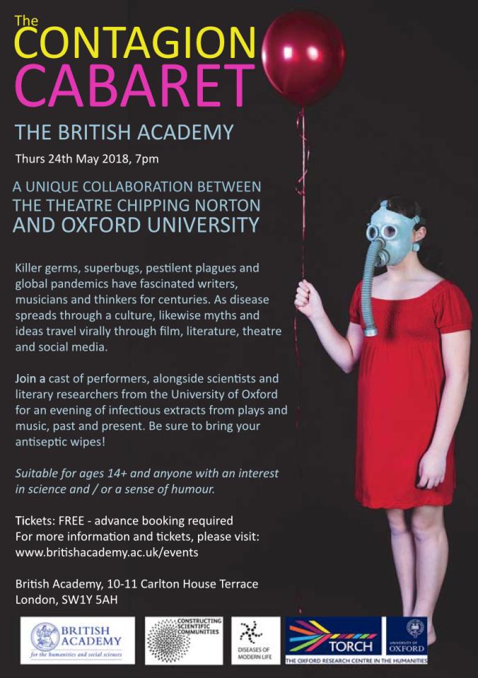 Contagion Cabaret e-flyer British Academy